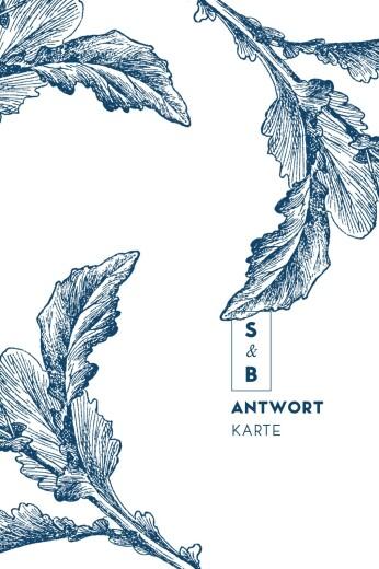Antwortkarte Hochzeit Laure de sagazan blau