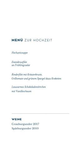 Menükarte Laure de sagazan (klappkarte) blau - Seite 3