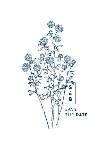 Save-the-Date Karten Laure de sagazan blau - Seite 2