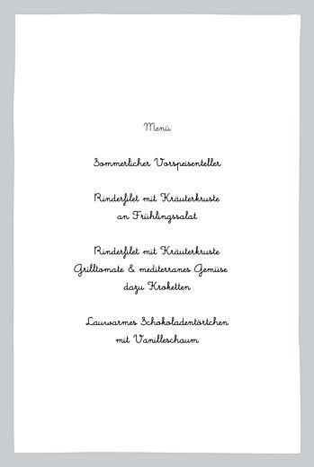 Menükarten Taufe Gentleman grau - Seite 3