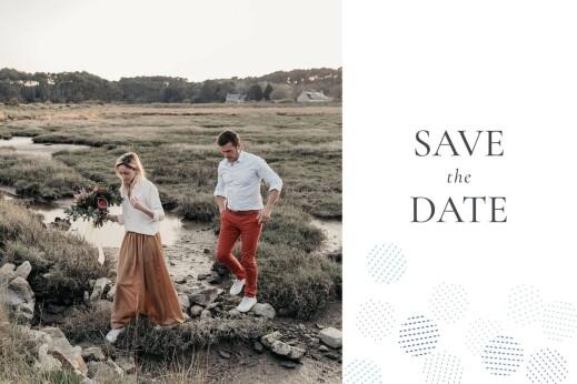 Save-the-Date Karten Pailletten foto blau