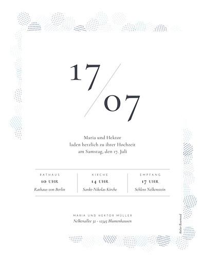 Hochzeitseinladungen Pailletten hoch blau - Seite 2