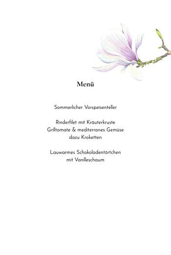 Menükarten Taufe Naturalis weiß - Seite 3