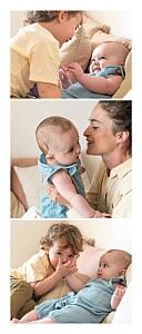 Geburtskarten zwillinge 3 fotos panorama zwillinge weiß