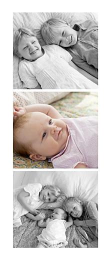 Geburtskarten 3 fotos panorama hoch weiß