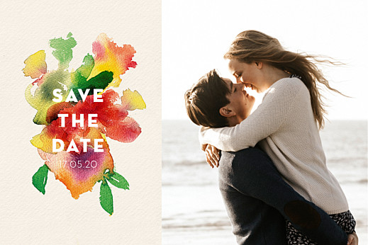 Save-the-Date Karten Bloom beige