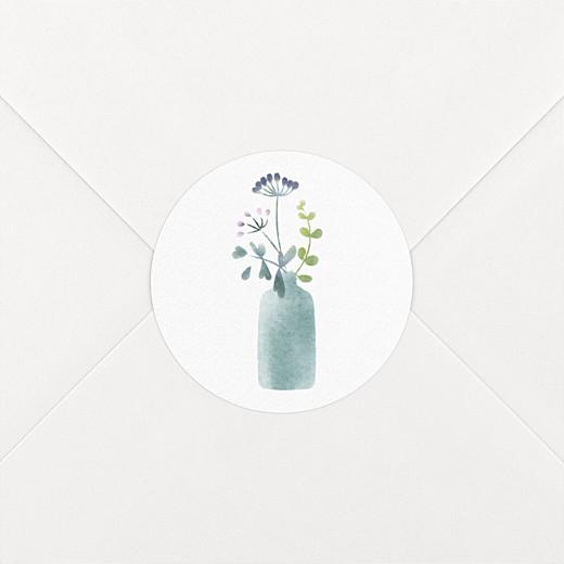 Aufkleber Taufe Wildblumen violett - Ansicht 2