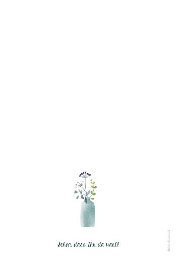 Menükarten Taufe Wildblumen violett - Seite 4