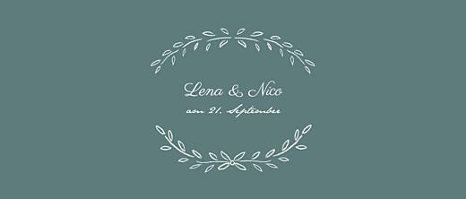 Hochzeitseinladungen Lyrik panorama grün