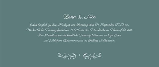 Hochzeitseinladungen Lyrik panorama grün - Seite 3
