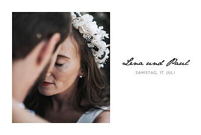 Hochzeitseinladungen Schöne worte lang weiß finition
