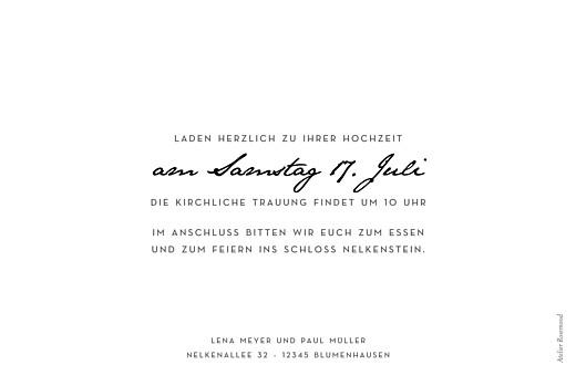 Hochzeitseinladungen Schöne worte lang weiß - Seite 2