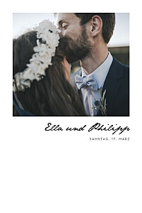 Hochzeitseinladungen fotos schöne worte hoch weiß