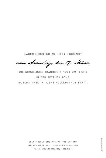 Hochzeitseinladungen Schöne worte hoch weiß - Seite 2