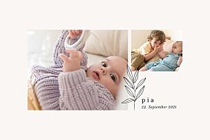 Geburtskarten mädchen oder junge kleiner sprössling beige
