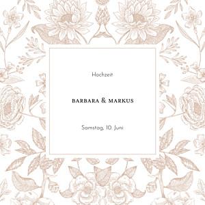 Hochzeitseinladungen floral blütenspiegelung klappkarte rosa