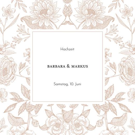 Hochzeitseinladungen Blütenspiegelung klappkarte rosa