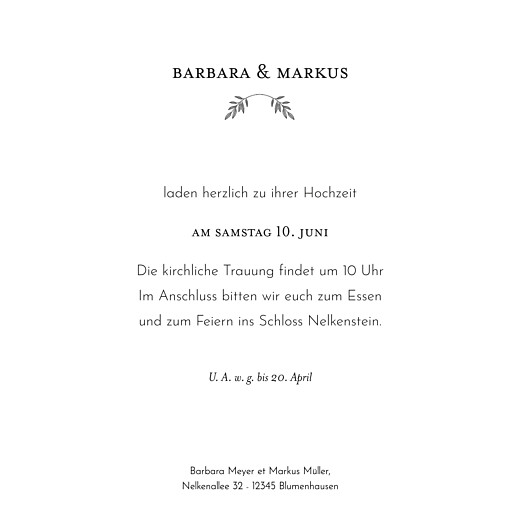 Hochzeitseinladungen Blütenspiegelung klappkarte rosa - Seite 3