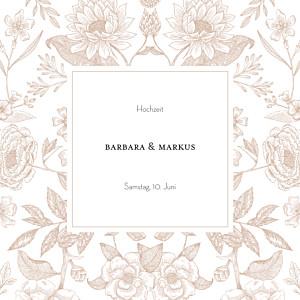Hochzeitseinladungen sophie rivière blütenspiegelung rosa