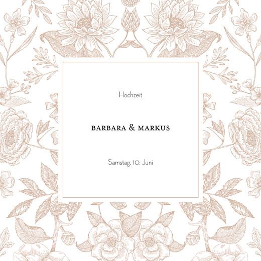 Hochzeitseinladungen Blütenspiegelung rosa