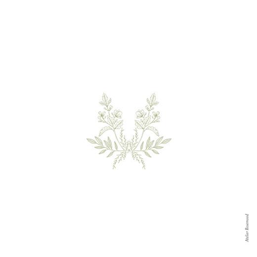 Dankeskarten Hochzeit Blütenspiegelung grün - Seite 4