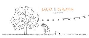 Hochzeitseinladungen marion bizet feldhochzeit panorama weiß