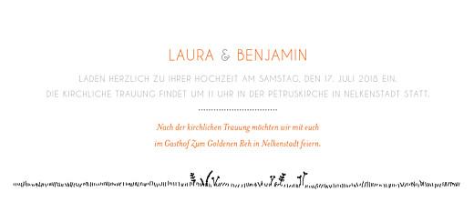 Hochzeitseinladungen Feldhochzeit panorama weiß - Seite 3
