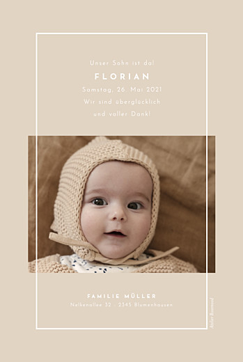 Geburtskarten Nordic hoch beige - Seite 2