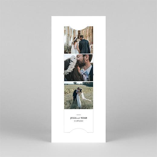 Dankeskarten Hochzeit Essenziell (fotostreifen) weiß - Ansicht 2