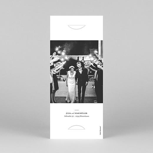 Dankeskarten Hochzeit Essenziell (fotostreifen) weiß - Ansicht 4