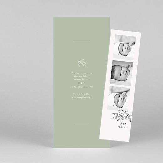 Geburtskarten Kleiner sprössling (fotostreifen) grün - Ansicht 1