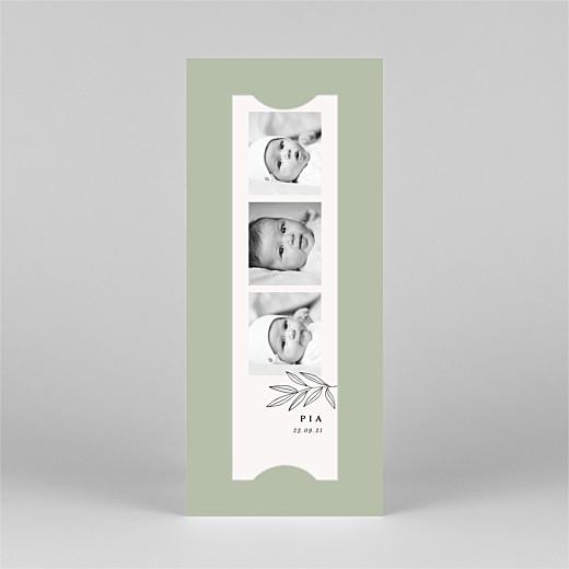 Geburtskarten Kleiner sprössling (fotostreifen) grün - Ansicht 2