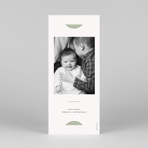 Geburtskarten Kleiner sprössling (fotostreifen) grün - Ansicht 4