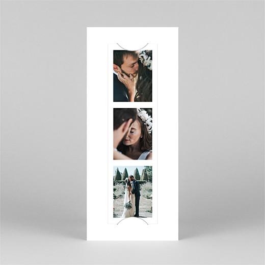 Dankeskarten Hochzeit Stilvoll modern (fotostreifen) weiß - Ansicht 2