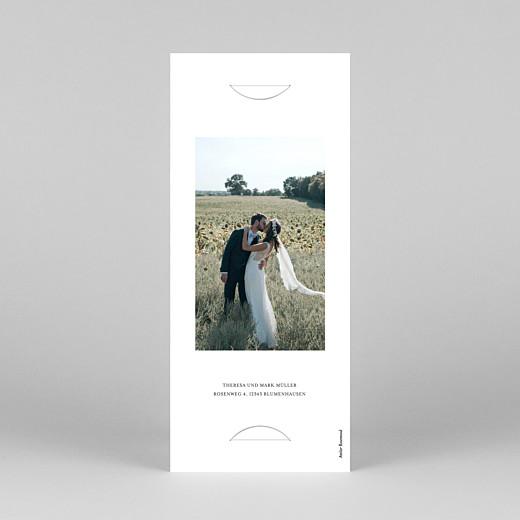 Dankeskarten Hochzeit Stilvoll modern (fotostreifen) weiß - Ansicht 4