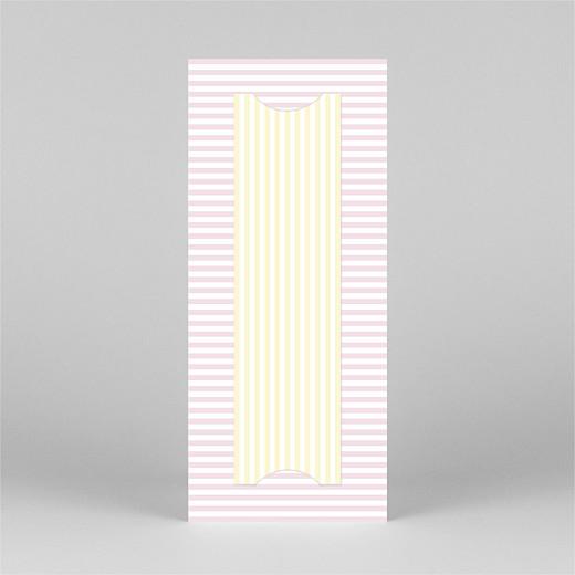 Geburtskarten Pastellstreifen (fotostreifen) rosa - Ansicht 3