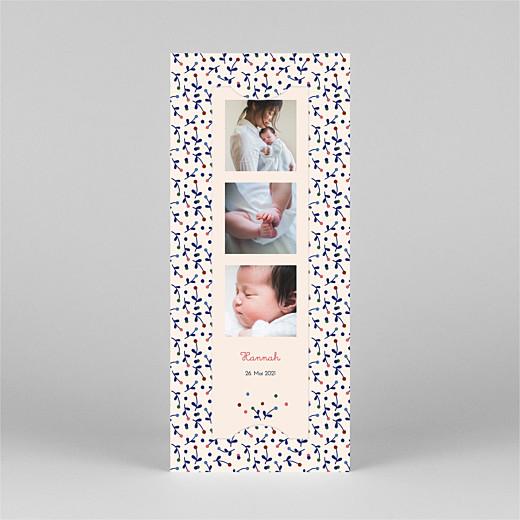Geburtskarten Liberty beere (fotostreifen) blau - Ansicht 2