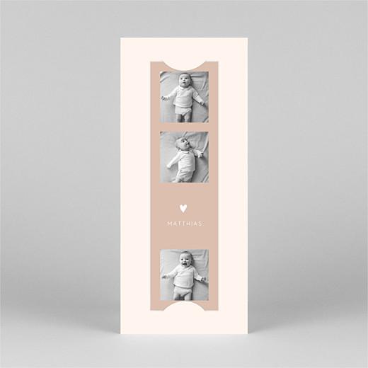 Geburtskarten Elegant herz (fotostreifen) rosa - Ansicht 2