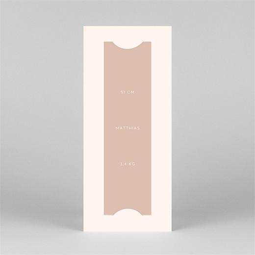 Geburtskarten Elegant herz (fotostreifen) rosa - Ansicht 3