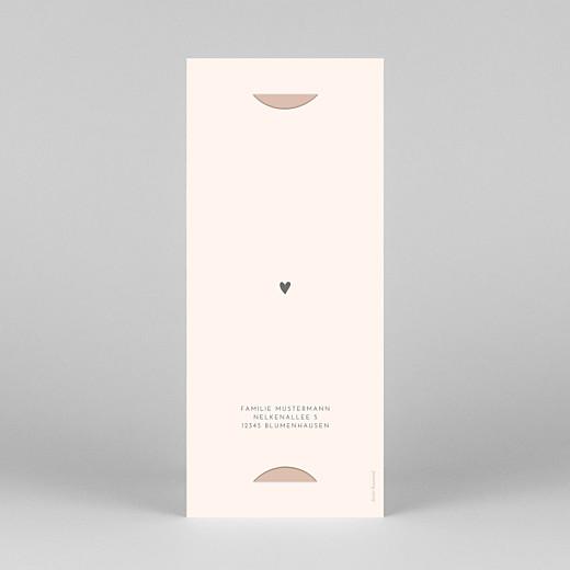 Geburtskarten Elegant herz (fotostreifen) rosa - Ansicht 4