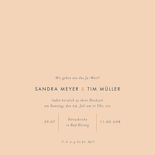 Hochzeitseinladungen Liebesbotschaft (gold) rosa