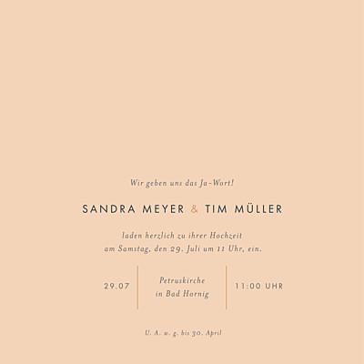 Hochzeitseinladungen Liebesbotschaft (gold) rosa finition