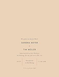 Hochzeitseinladungen orange liebesbotschaft portrait (gold) rosa