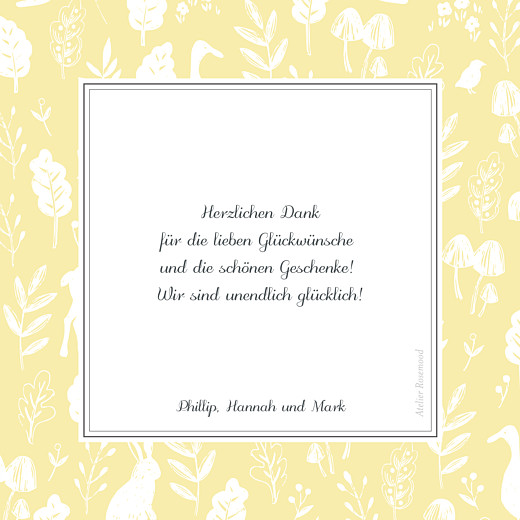 Dankeskarten Fabelhaft gelb - Seite 2
