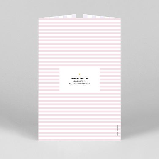 Geburtskarten Pastellstreifen (duo hoch) rosa - Ansicht 3