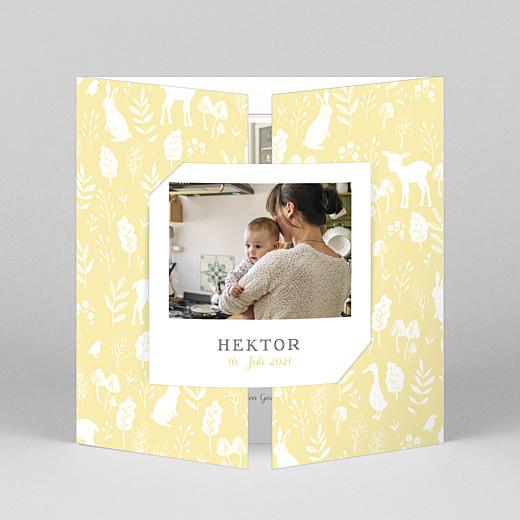 Geburtskarten Fabelhaft (duo) gelb - Ansicht 1