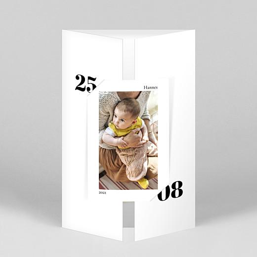 Geburtskarten Zeitgeist (duo hoch) weiß - Ansicht 1