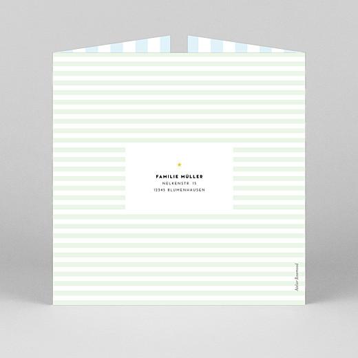 Geburtskarten Pastellstreifen (duo) blau - Ansicht 3