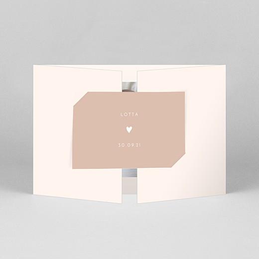 Geburtskarten Elegant herz (duo querformat) rosa - Ansicht 1