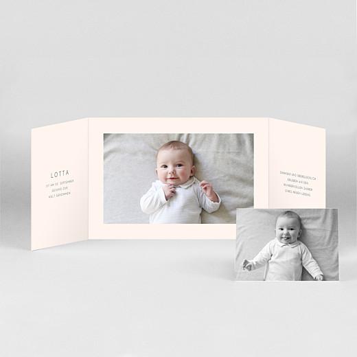 Geburtskarten Elegant herz (duo querformat) rosa - Ansicht 2